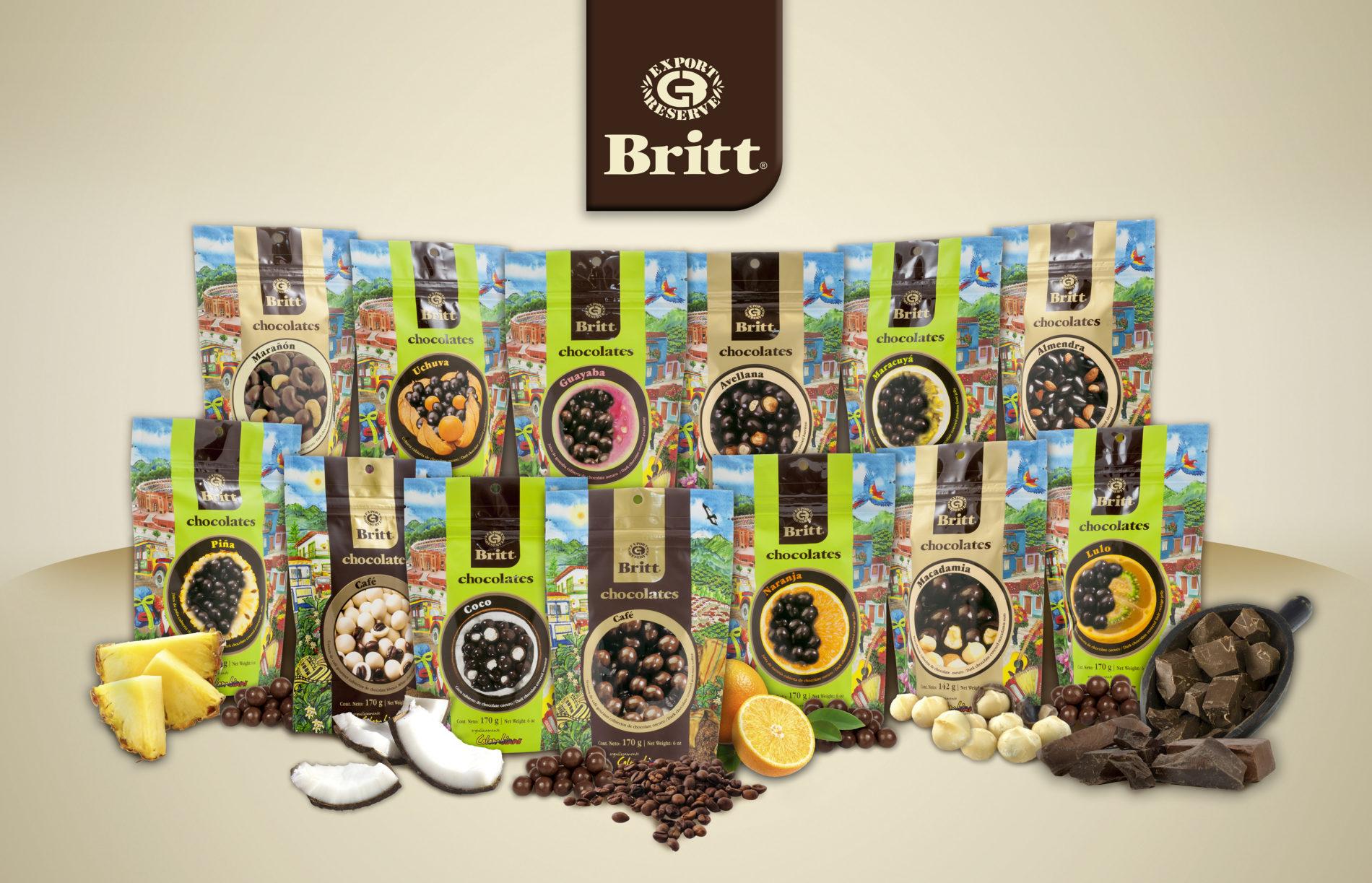 Chocolates Britt Gourmet con el sabor de Colombia