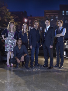 "CRIMINAL MINDS - ""Criminal Minds"" stars Kirsten Vangsness as Penelope Garcia,  Shemar Moore as Derek Morgan, A.J. Cook as Jennifer ""JJ"" Jareau, Joe Mantegna as David Rossi, Thomas Gibson as Aaron Hotchner and Matthew Gray Gubler as Dr. Spencer Reid. (ABC Studios/Cliff Lipson)"