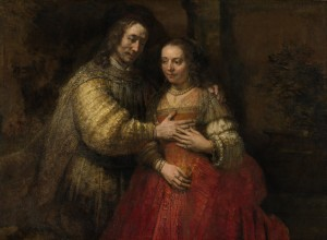 Portrait of a Couple as Isaac and Rebecca, known as The Jewish Bride, Rembrandt about 1665. ∏ Rijksmuseum, Amsterdam