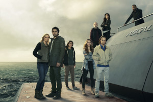 Kim Dickens as Madison Clark, Cliff Curtis as Travis Manawa , Lorenzo James Henrie as Chris Manawa, Alycia Debnam-Carey as Alicia Clark, Rube Blades as Daniel Salazar, Frank Dillane as Nick Clark, Mercedes Mason as Ofelia Salazar and Colman Domingo as Victor Strand in Fear the Walking Dead, Season 2, 2016, gallery, Photo credit: Frank Ockenfels 3/AMC