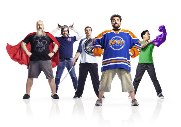 Bryan Johnson, Michael Zapcic, Walt Flanagan, Kevin Smith and Ming Chen - Comic Book Men _ Season 4, Gallery - Photo Credit: Courtesy of AMC