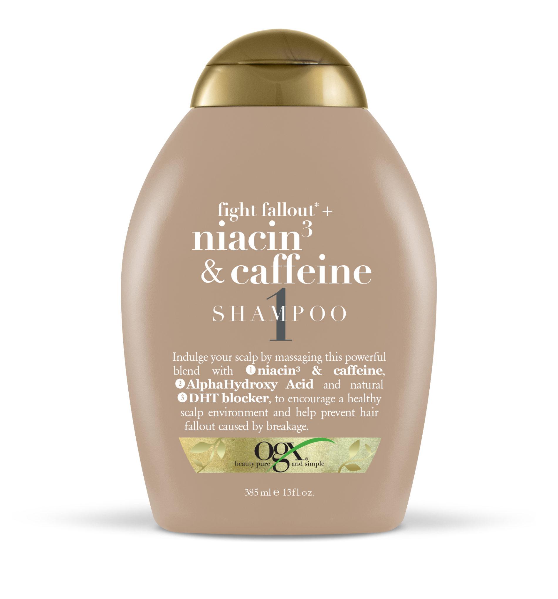 OGX con Niacina y Cafeína detiene la caída del cabello