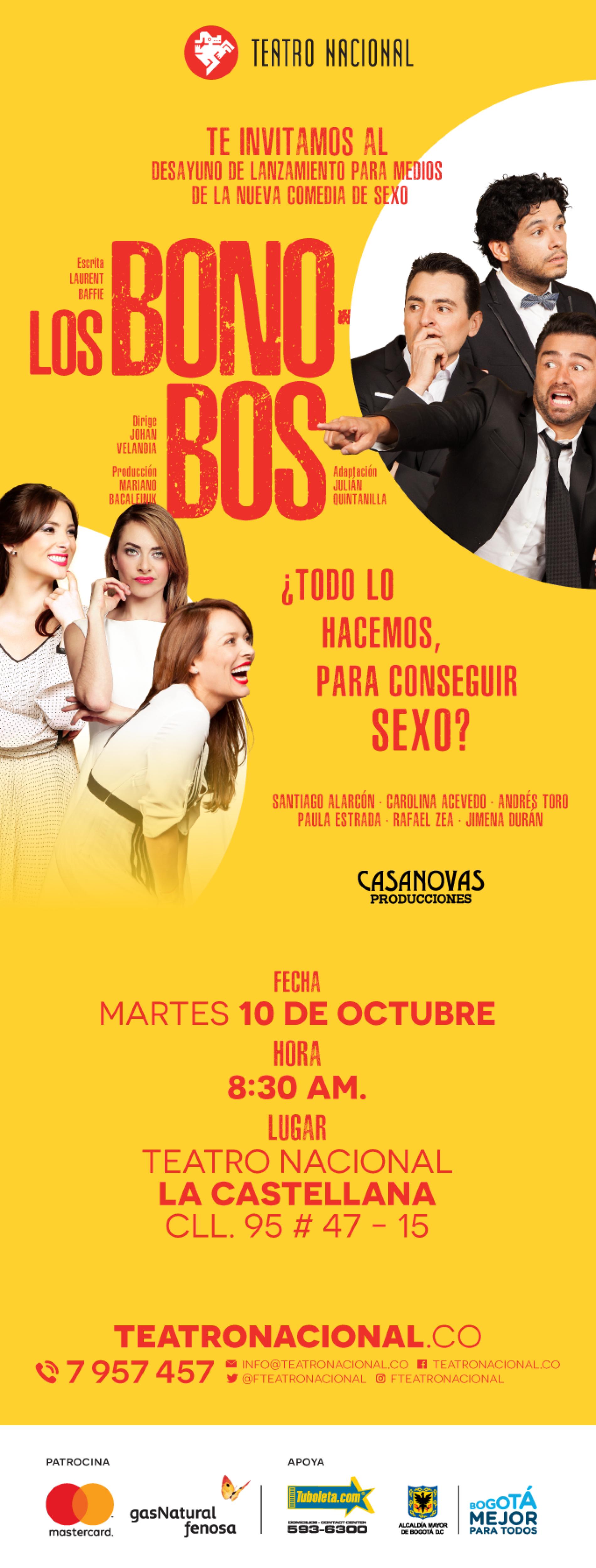 LOS BONOBOS, el estreno del Teatro Nacional