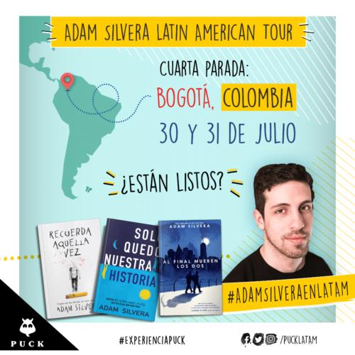 ADAM SILVERA, UNA DE LAS VOCES JUVENILES DEL  MOMENTO,  POR PRIMERA VEZ EN COLOMBIA