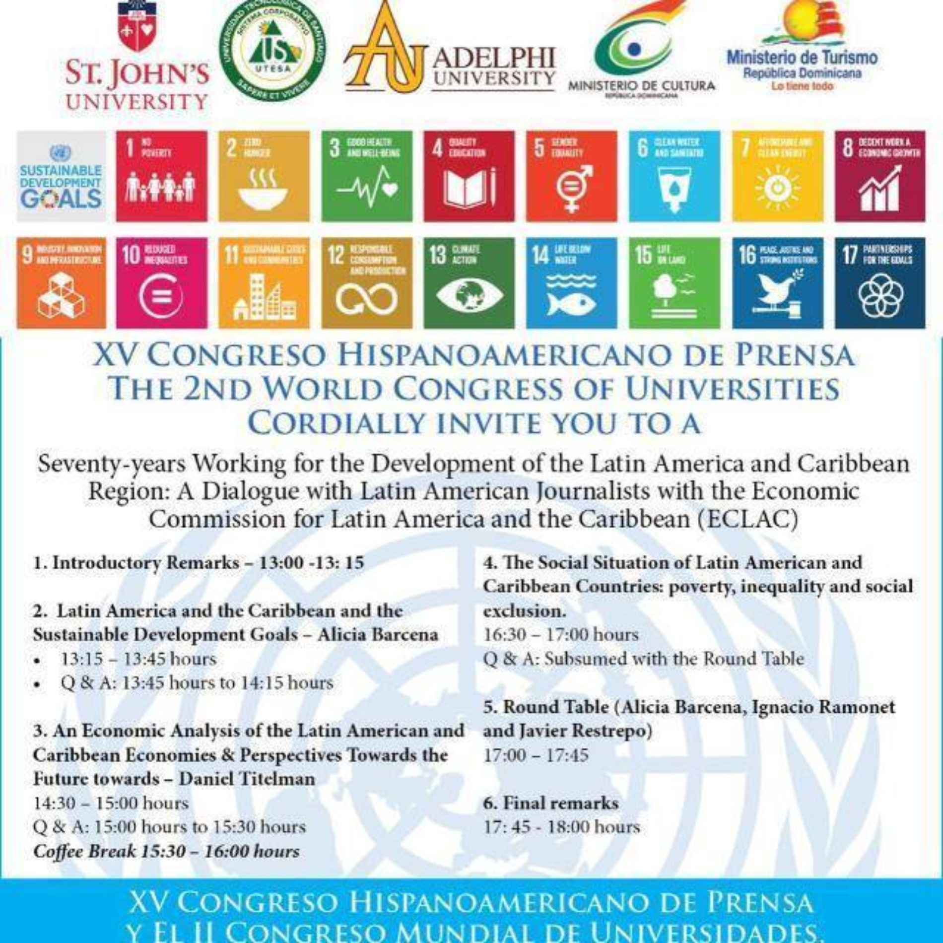XV Congreso Hispano ONU y XV Congreso de Prensa Hispanoamericana ONU