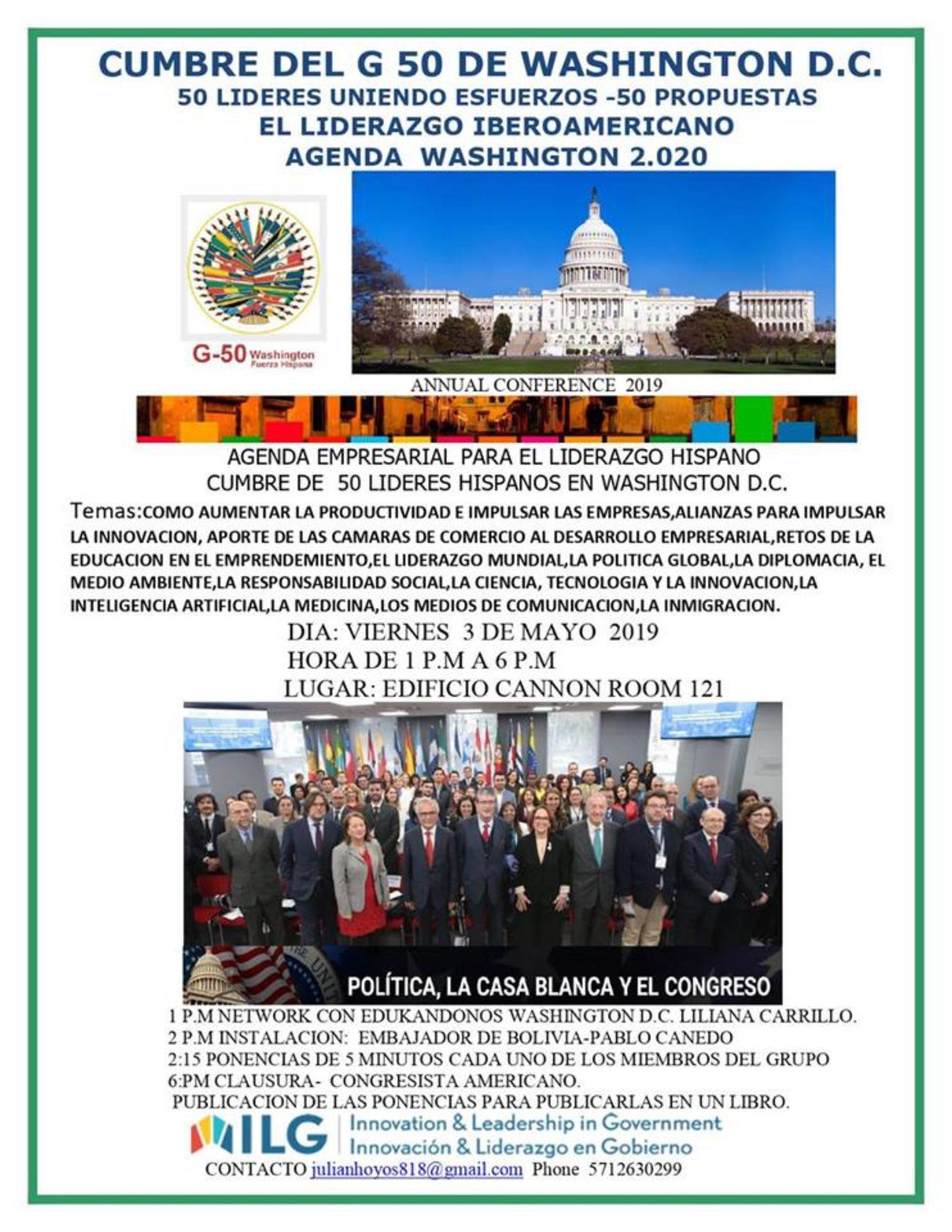 CUMBRE EMPRESARIAL DE LÍDERES G50 EN WASHINGTON D.C.