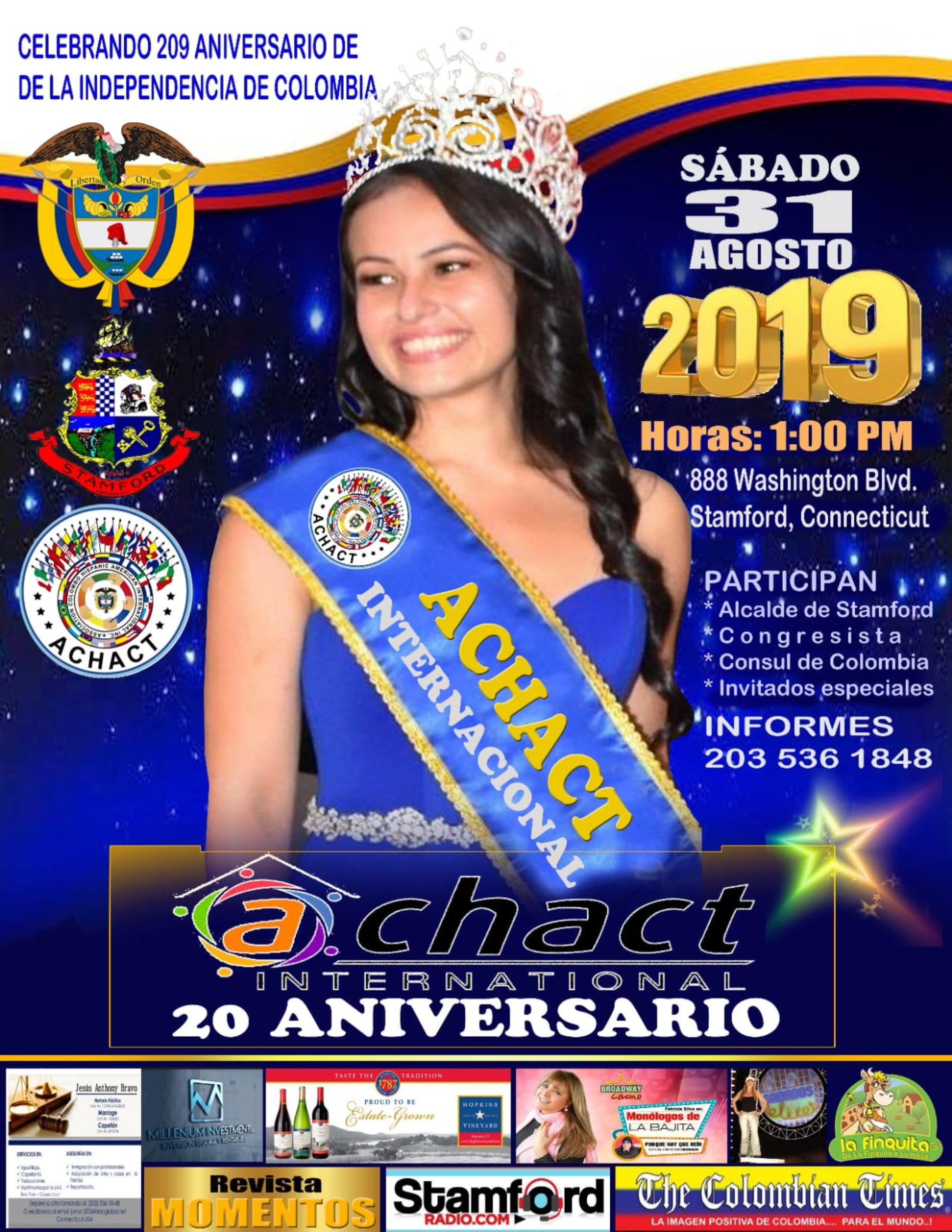 ACHACT CELEBRA EN CONNECTICUT EL ANIVERSARIO 209 DE LA INDEPENDENCIA DE COLOMBIA