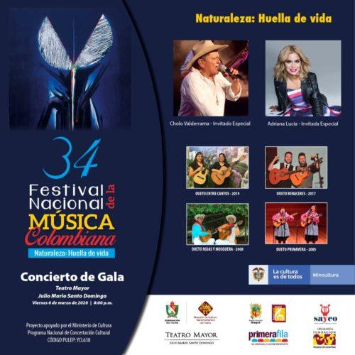 CONCIERTO DE LANZAMIENTO DEL FESTIVAL NACIONAL DE LA MÚSICA COLOMBIANA