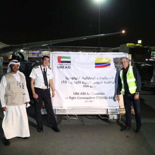 EAU entrega el tercer envío de ayuda médica a Colombia