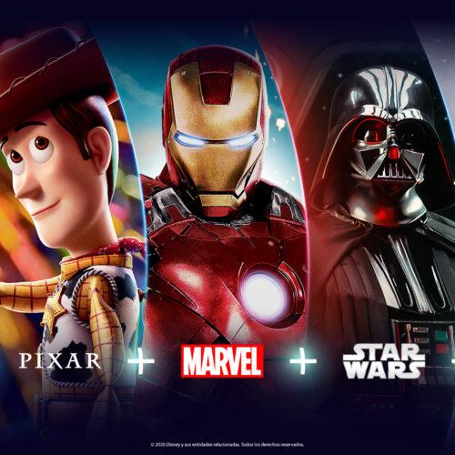 """Desde noviembre Disney+ (""""Disney plus"""") es el nuevo hogar de Disney, Pixar, Marvel, Star Wars y National Geographic en Latinoamérica"""