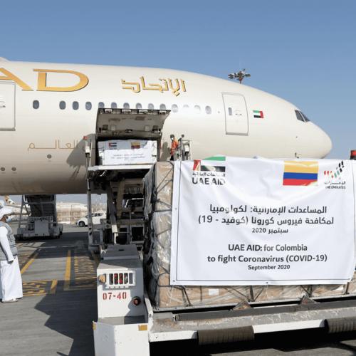 Emiratos Árabes Unidos envía quinto avión de asistencia médica a Colombia