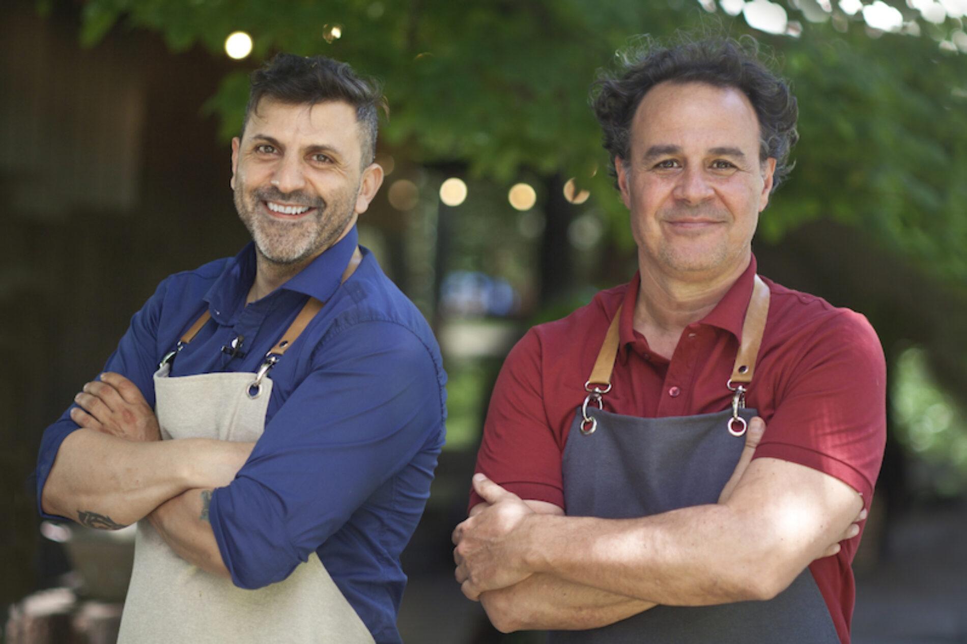 Roberto Petersen y Juan Manuel Herrera con Panes y postres al fuego en El Gourmet