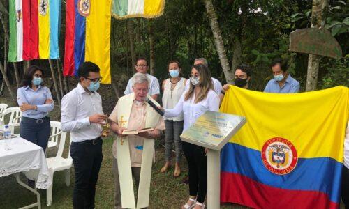 Instalación de la primera piedra de MANE, la más grande excavación arqueológica de Colombia
