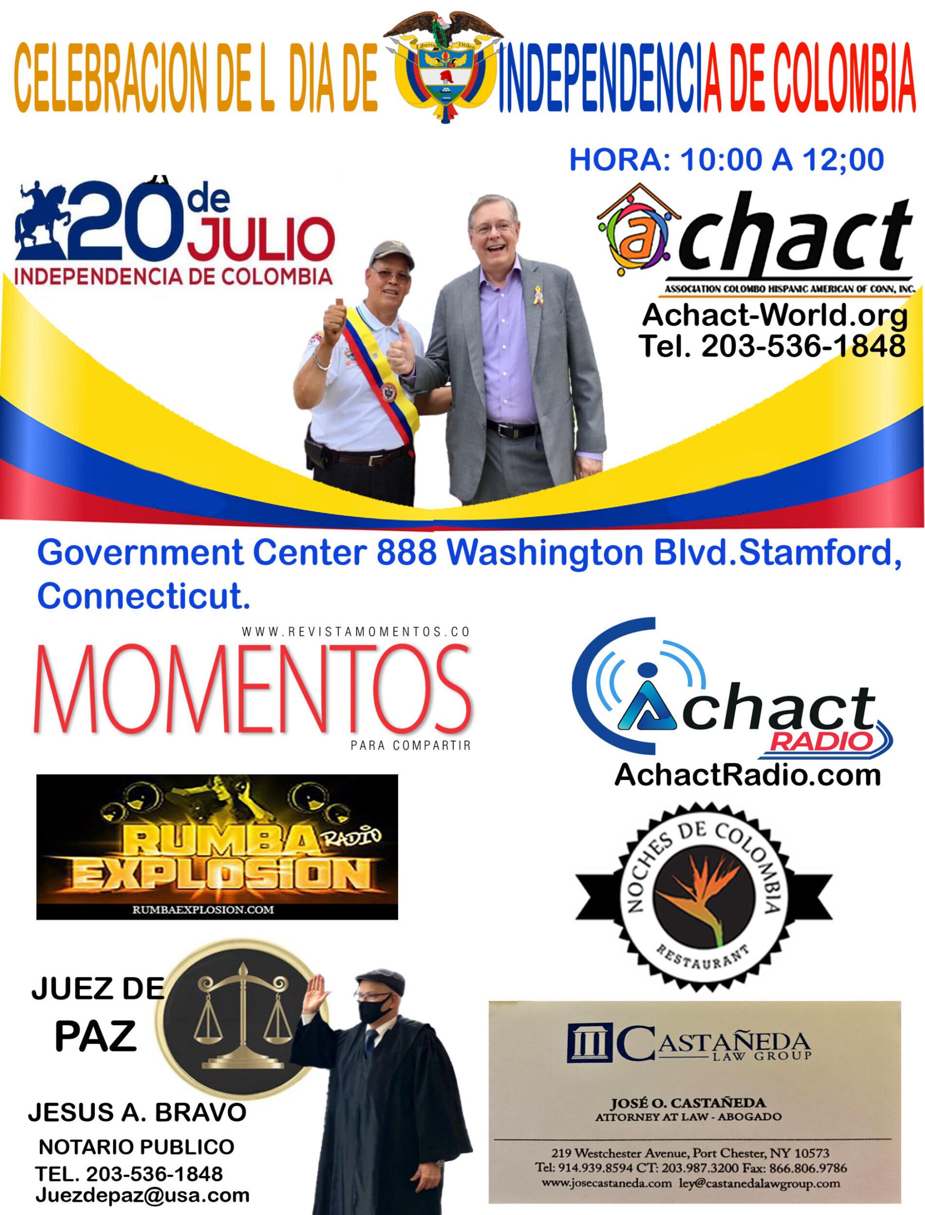 20 DE JULIO, LA CELEBRACIÓN DE COLOMBIA EN STAMFORD, CONNECTICUT