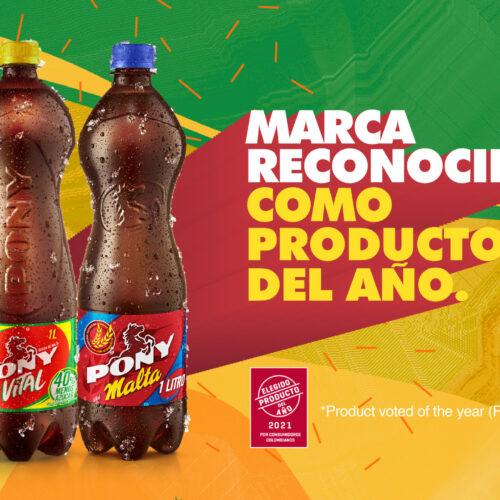 Pony Malta es elegida producto del año y recibe reconocimiento como marca innovadora