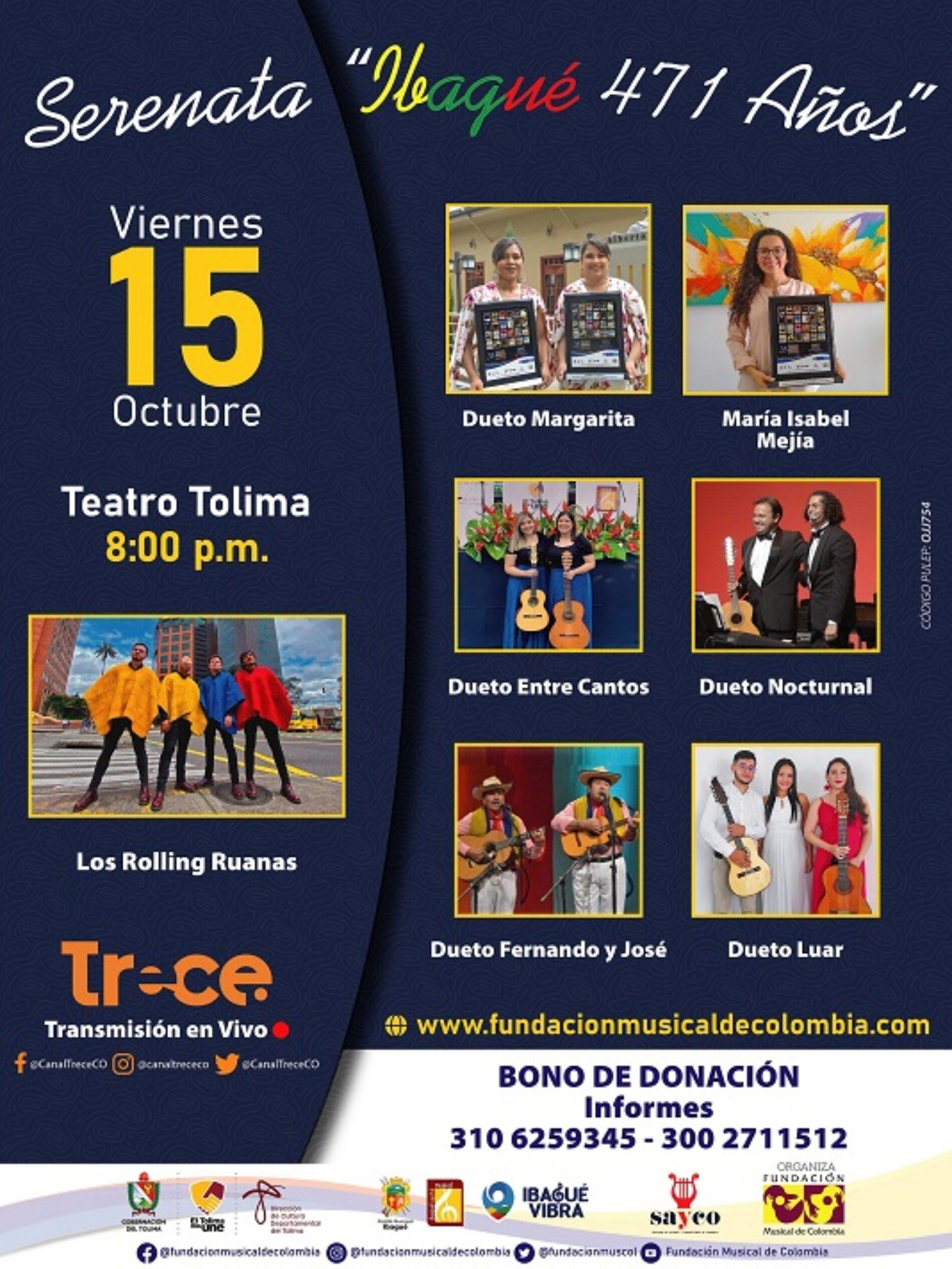 Con Los Rolling Ruanas se abre convocatoria al Festival de Música Colombiana 2022